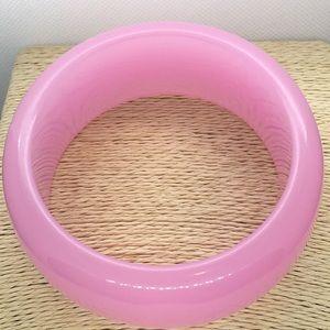 Jewelry - Thick pink plastic retro bangle bracelet